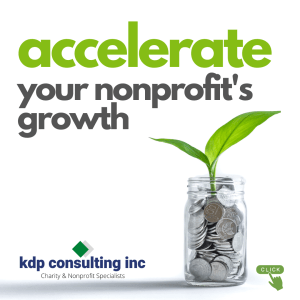 Accelerate your nonprofit's growth with KDP Consulting Inc